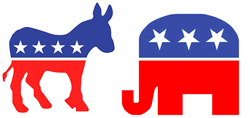 Political Action Committee - party logos
